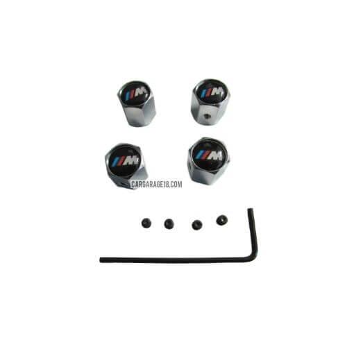 BLACK MTECH VALVE TIRE CAP FOR BMW