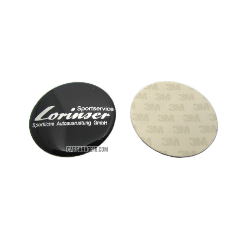 BLACK LORINSER STEERING WHEEL EMBLEM SIZE 52mm