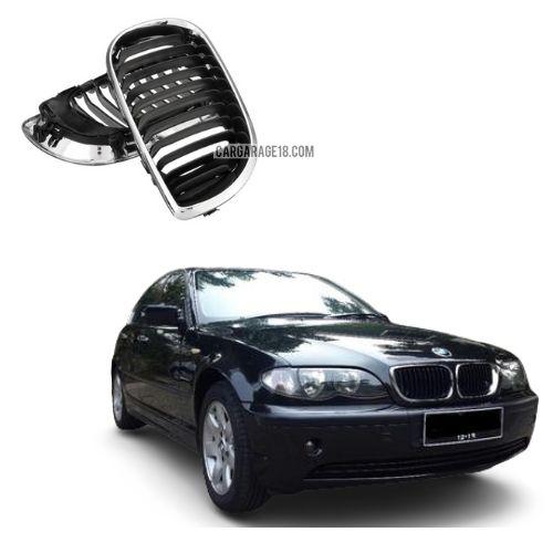 FRONT GRILLE BLACK CHROME FOR BMW E46 FACELIFT 2002-2005