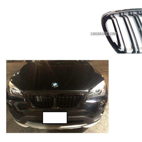 FRONT GRILLE GLOSSY BLACK DOUBLE SLATS FOR BMW X1 E84