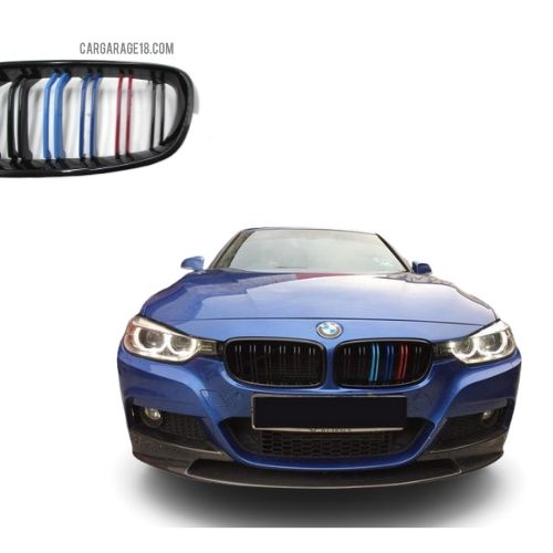 GLOSSY BLACK M COLOUR DOUBLE SLATS GRILLE BMW F30 F35