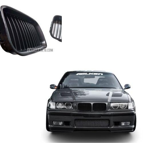 FRONT GRILLE MATTE BLACK COLOR FOR BMW E36 PRE FACELIFT 1991-1996